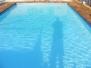 Pools Painted with Aqua colour