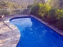 Concrete pool restoration with EPOTEC Royal Blue in Castlecrag NSW