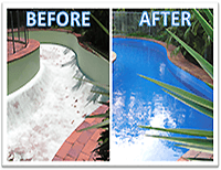 Epoxy swimming pool paint BEFORE AND AFTER